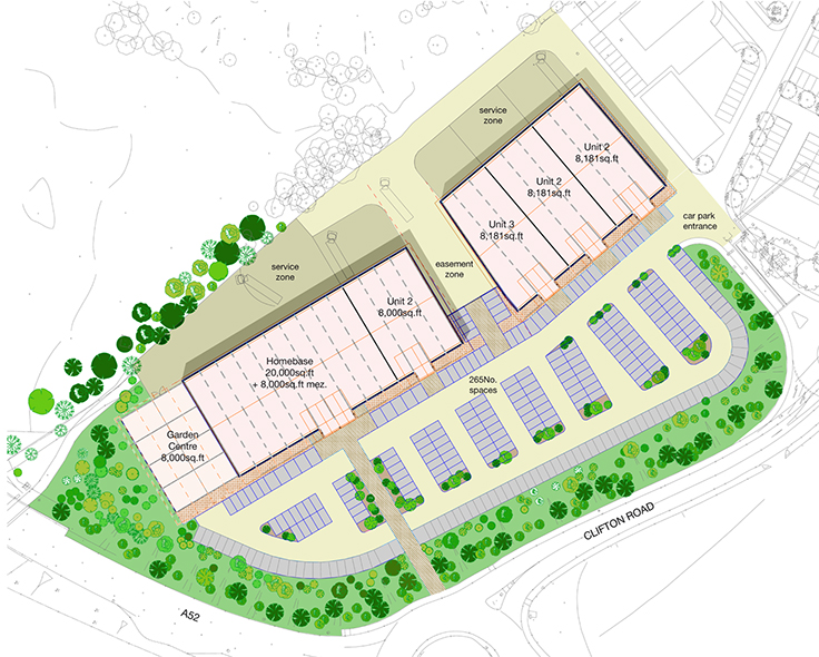 Waterside retail park maber for Site plan app