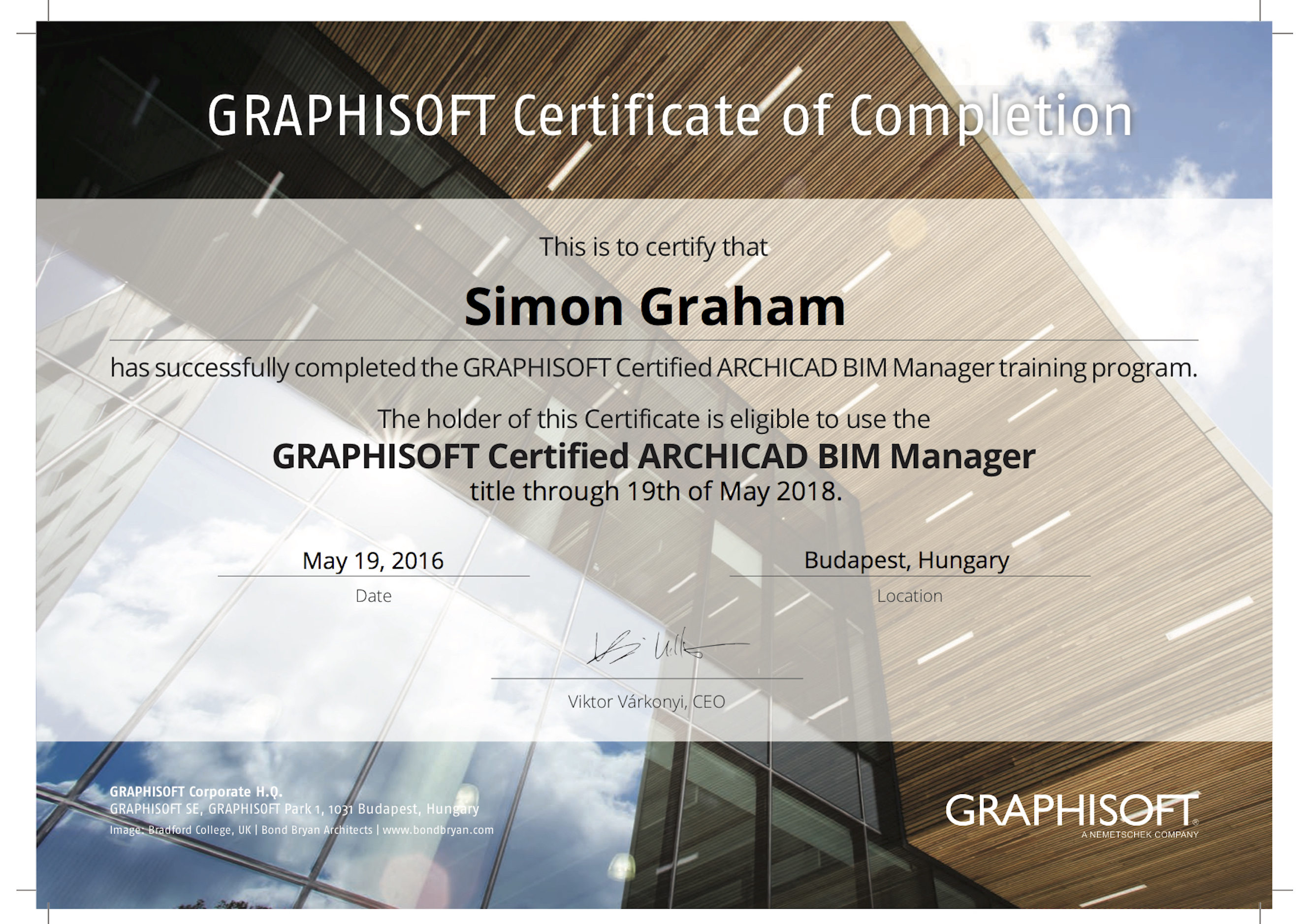 Bim Manager Certification Maber