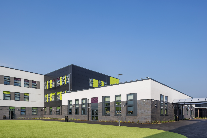 Two Storey Building Elevation : Allestree woodlands school maber
